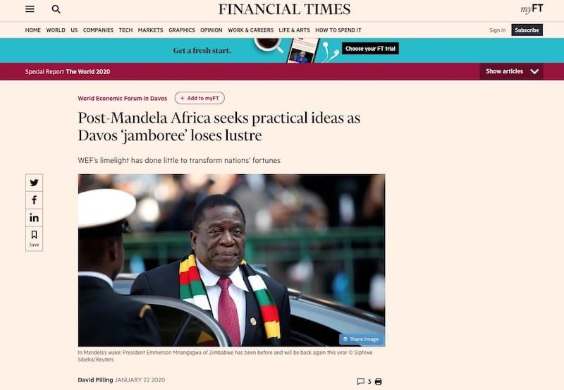 Post-Mandela Africa seeks practical ideas as Davos 'jamboree' loses lustre